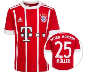 f98c857d42b7ce Adidas FC Bayern München Home Trikot Kinder 2017 2018 + Müller Nr ...