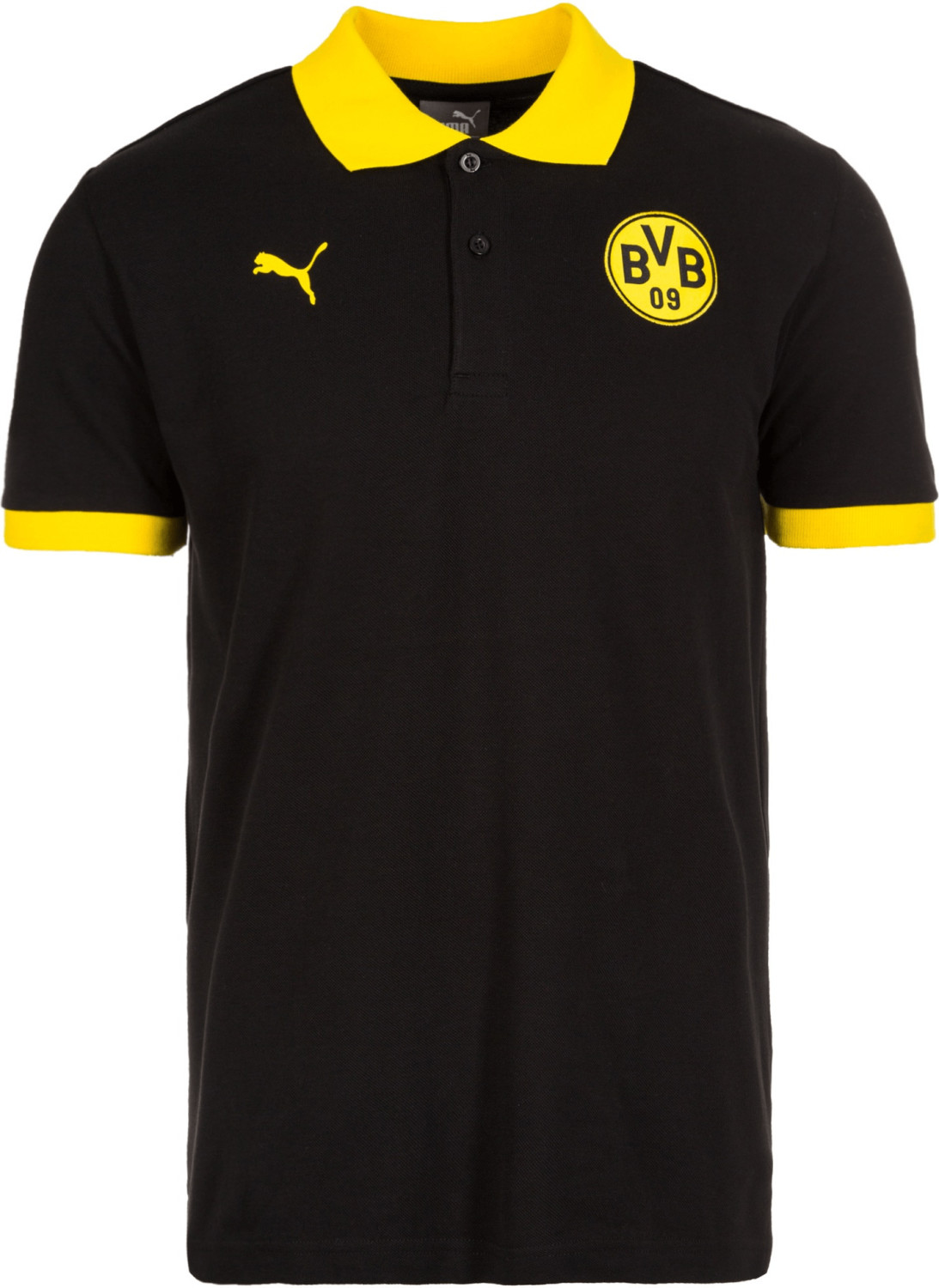 Puma BVB Wappen Polo black/cyber yellow