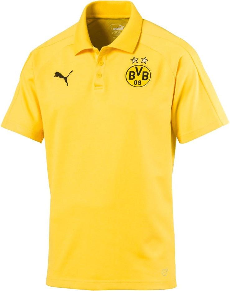 Puma BVB Casual Poloshirt cyber yellow