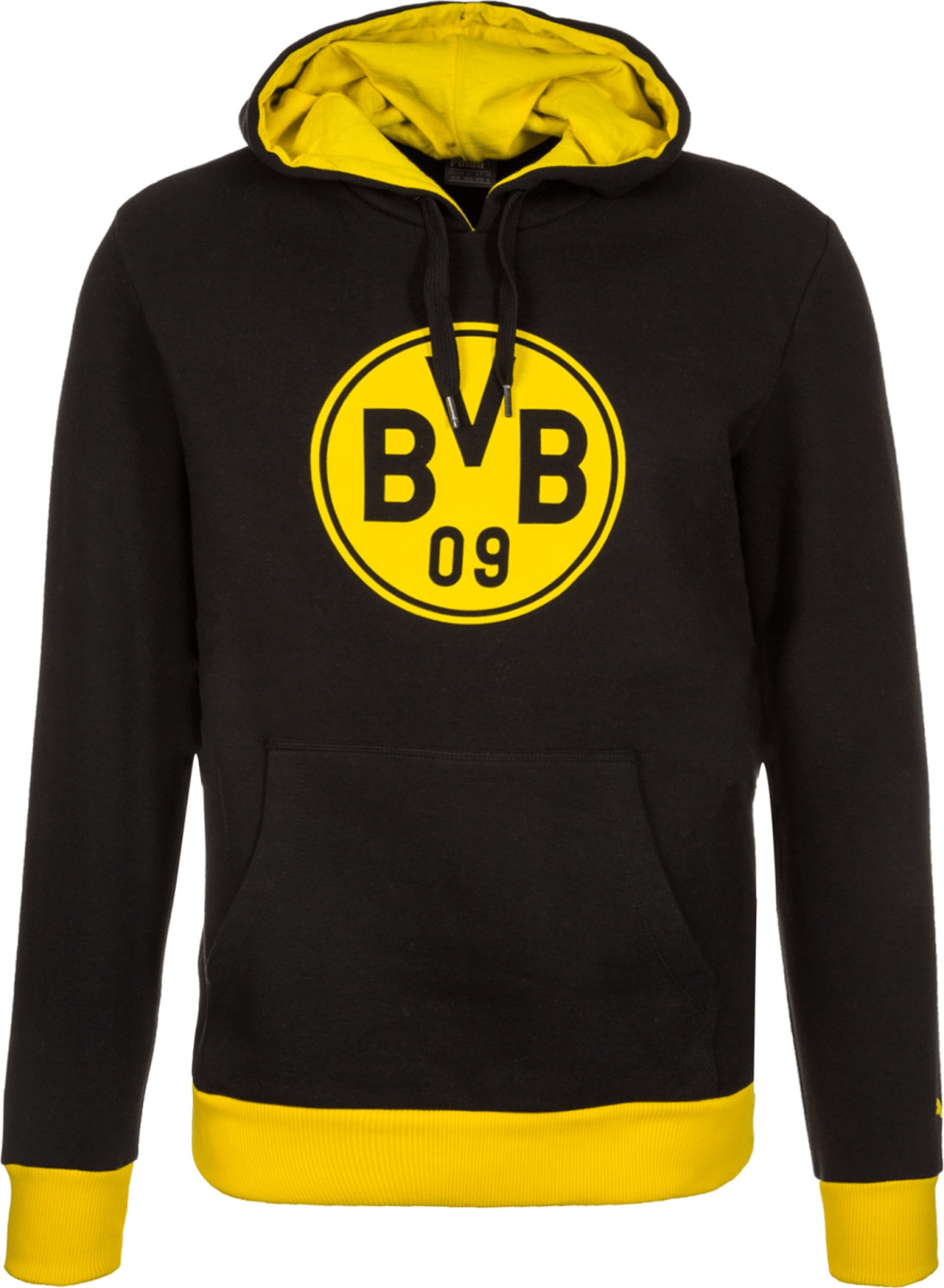 Puma BVB Pullover Wappen Hoodie black/cyber yellow