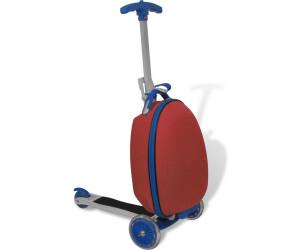 vidaXL Scooter mit Koffer rot