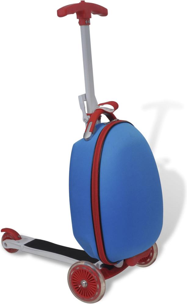 vidaXL Scooter mit Koffer blau