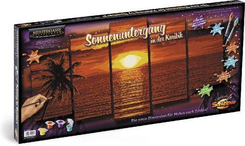 Noris Schipper 132x72cm 609450728 Sonnenuntergang in der Karibik