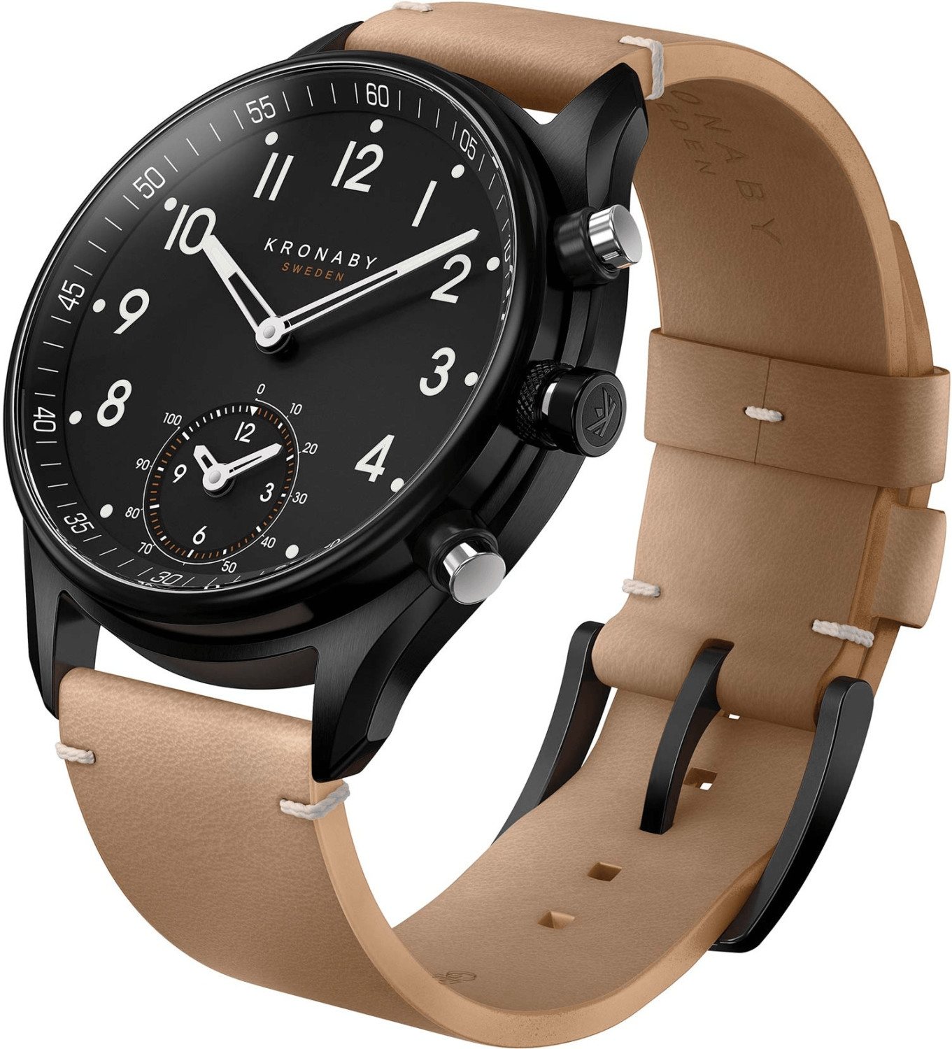 Image of Kronaby Apex black - Leather Strap