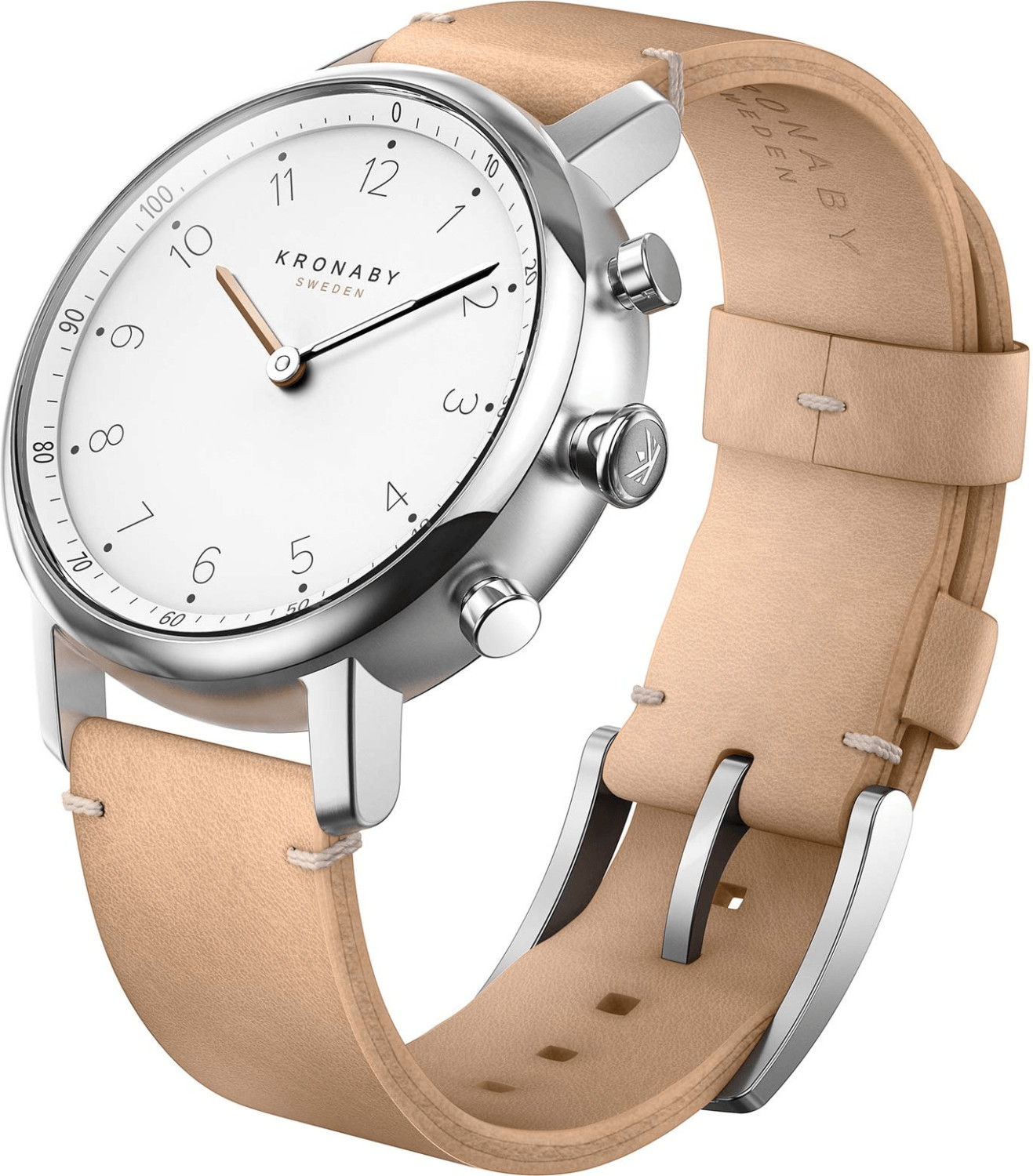 Image of Kronaby Nord beige Leather Strap