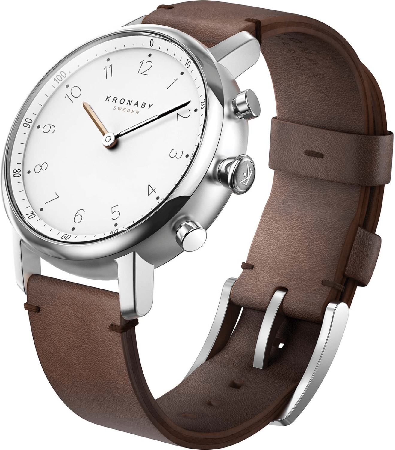 Image of Kronaby Nord brown Leather Strap