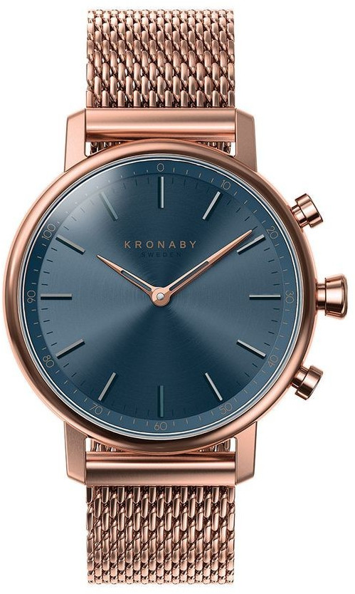 Image of Kronaby Carat blue - rose gold Mesh Bracelet