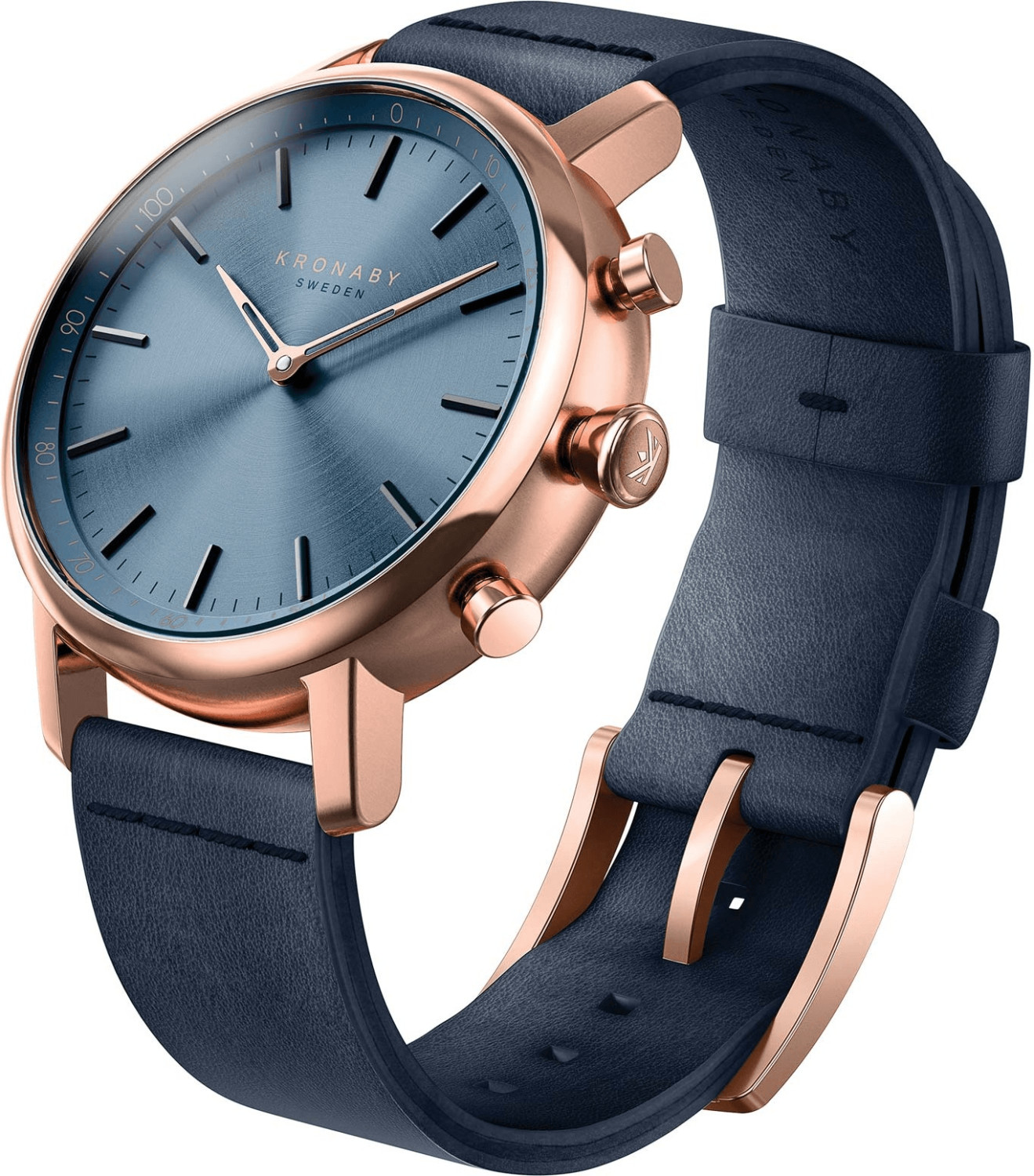Image of Kronaby Carat blue - blue Leather Strap