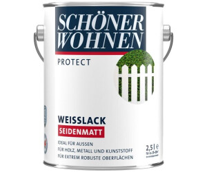 Schöner Wohnen Weißlack Profidur Seidenmatt 25 L Weiß Ab 2999
