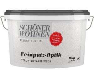 Schöner Wohnen Putzeffektfarbe Feinputz Optik 8 Kg Extrafein Weiß Ab