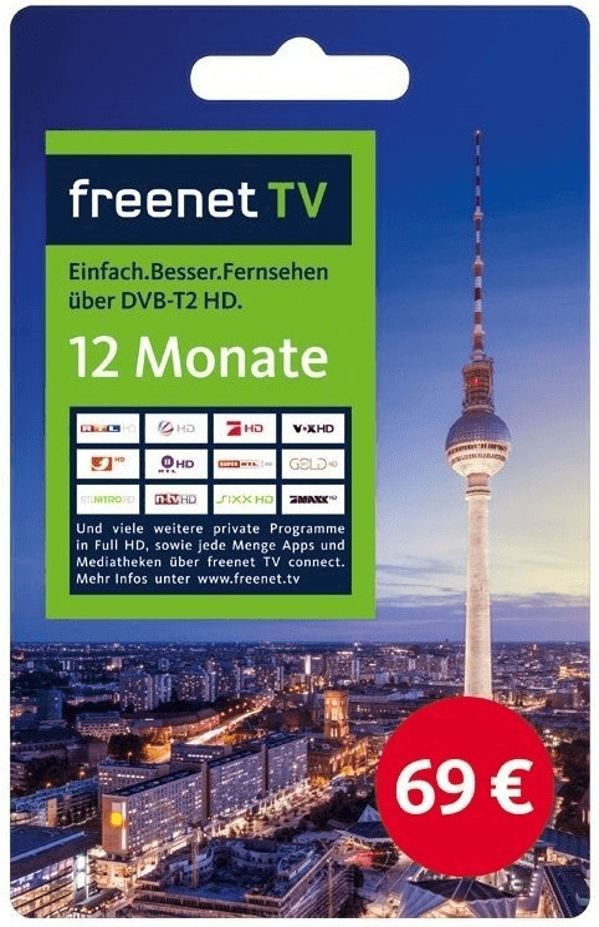 freenet Freenet-TV Verlängerungs PIN 12 Monate