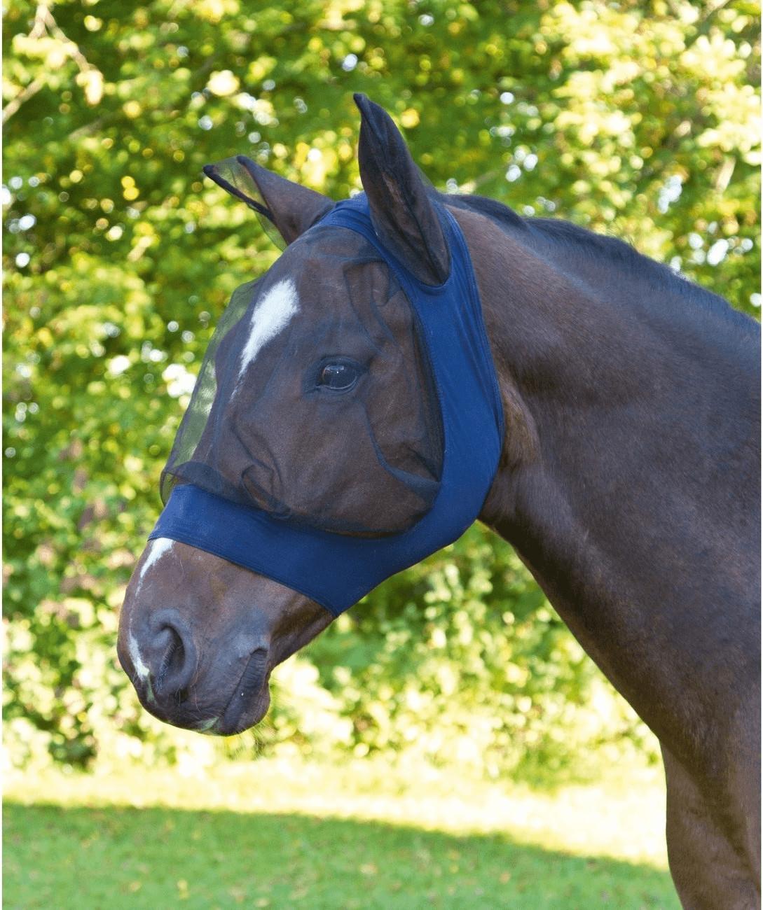Kerbl Fliegenschutzmaske FinoStrech Pony blau