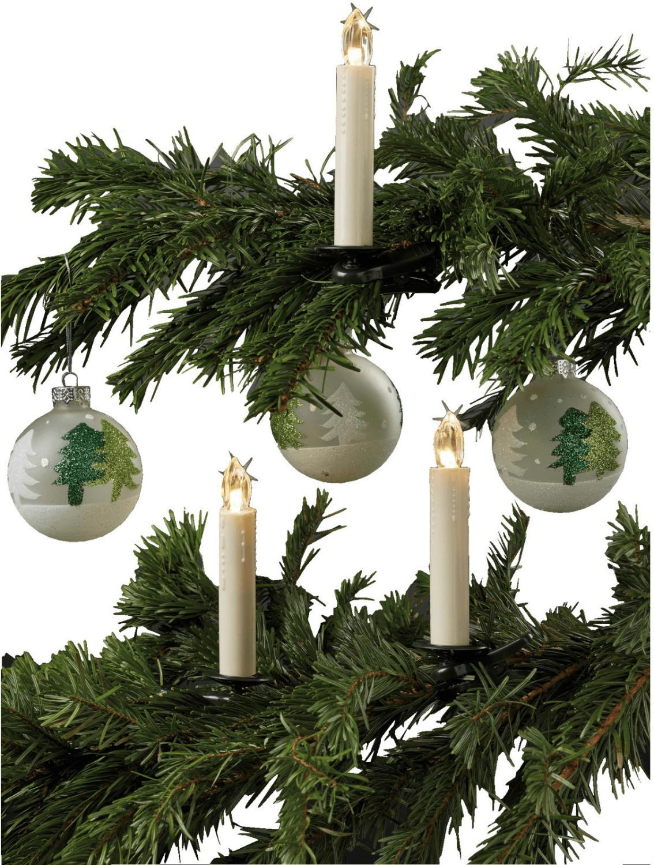 Hellum LED-Weihnachtsbaumkerzen kabellos 5er Er...