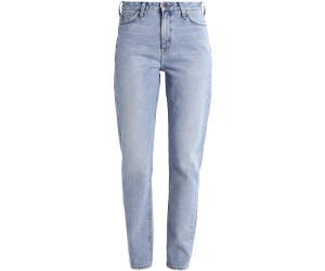 Lee Mom Straight Jeans Tapered Fit Light Stonewash