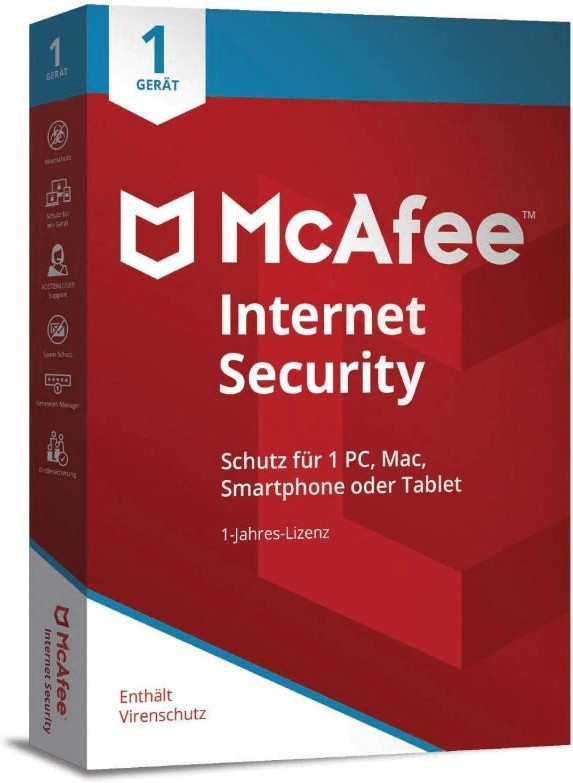 Image of McAfee Internet Security 2018 (1 Device) (1 Year)