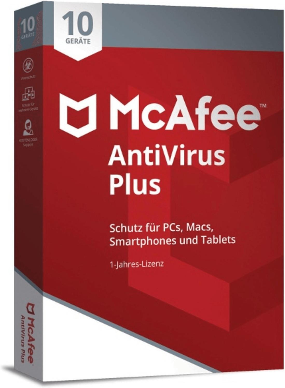 Image of McAfee AntiVirus Plus 2018 (10 Devices) (1 Year)