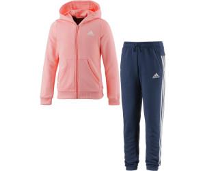 on feet shots of classic shoes new release Adidas Young Girl Trainingsanzug Kinder koralle/dunkelblau ...