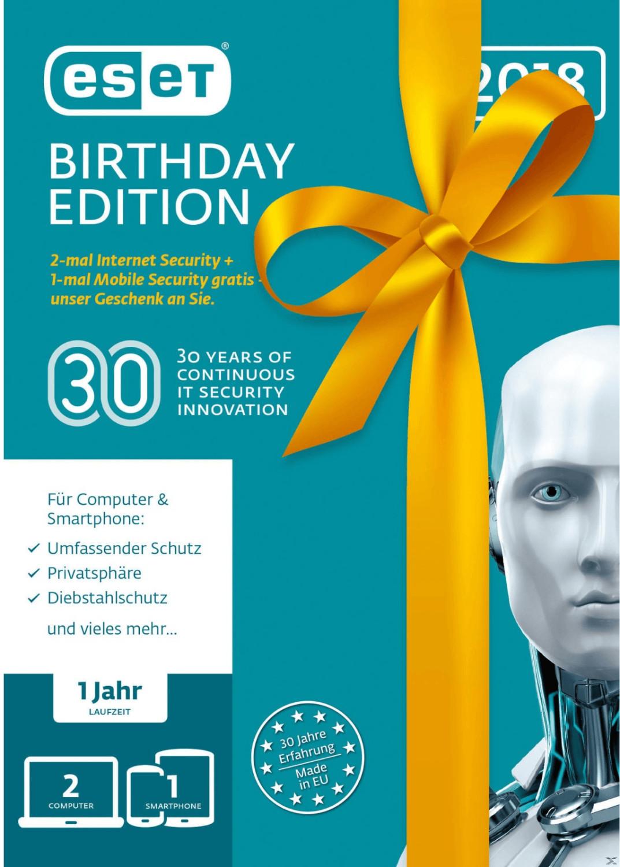 ESET Internet Security - Birthday Edition (3 Ge...