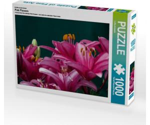 Calvendo Pink Flowers 1000 Teile Lege-Größe 64 x 48 cm Foto-Puzzle Bild von CALVENDO