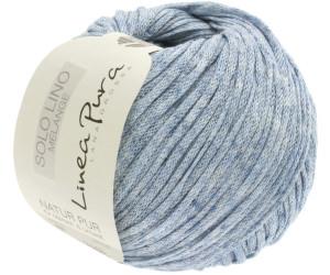 Lana Grossa 107 dunkelblau meliert 50 g Wolle Kreativ Solo Lino Melangè Fb