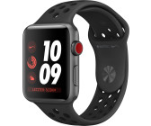 Apple Watch Series 3 Nike+ GPS + Cellular 42 mm aluminium gris sidéral bracelet  sport anthracite 394618996c19