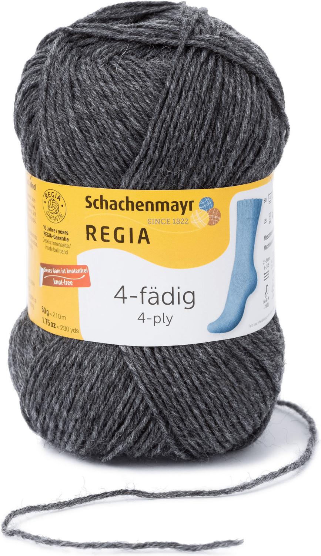 Regia 4-fädig 50 g mittelgrau meliert (00044)