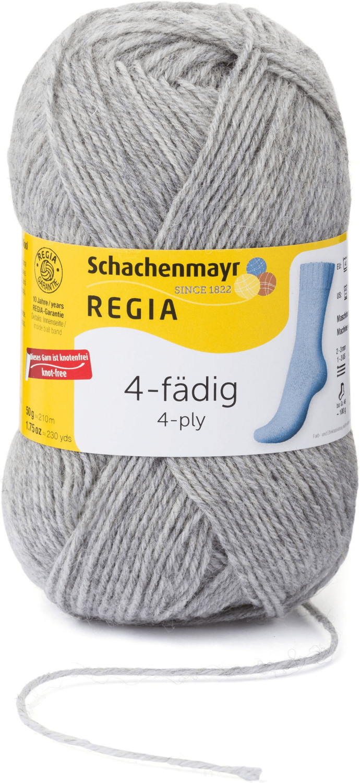 Regia 4-fädig 50 g hellgrau meliert (01991)
