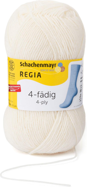 Regia 4-fädig 50 g natur (01992)