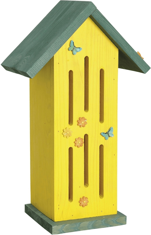 Luxus-Insektenhotels Schmetterlingshaus Sonnenfalter gelb (22111E)