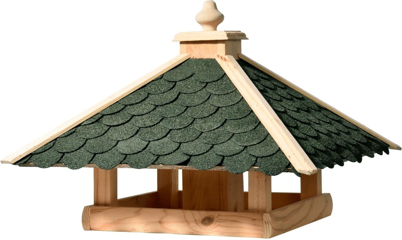 Dobar Vogelhaus Bitumen-Dachschindeln grün 54 x 54 x 38 cm