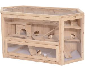 Pawhut Hamsterkäfig 3-stöckig Tannenholz (D51-082)