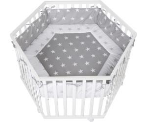 roba laufgitter 6 eckig little stars wei ab 214 90 preisvergleich bei. Black Bedroom Furniture Sets. Home Design Ideas