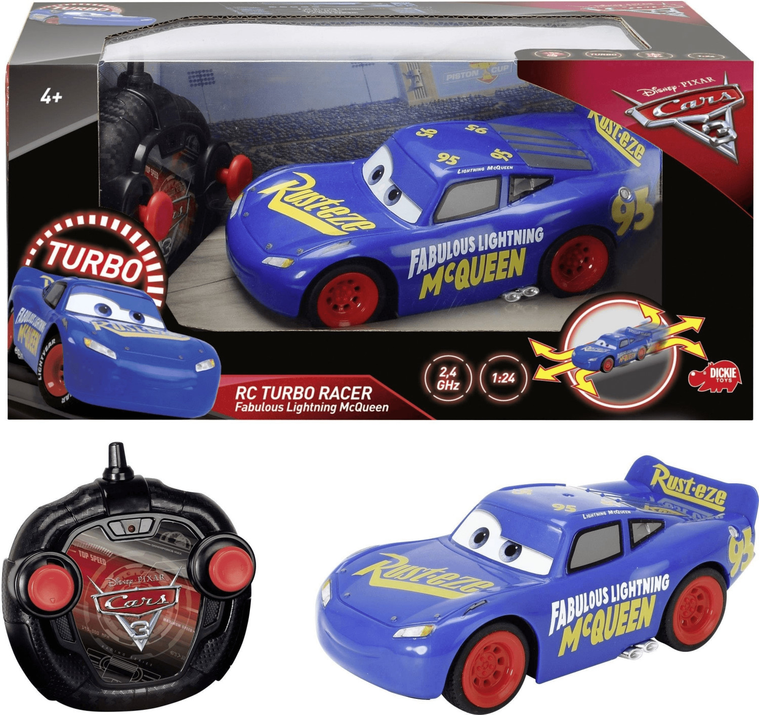 Schuco RC Cars 3 Fabulous Turbo Racer LMQ 1:24 (84009)