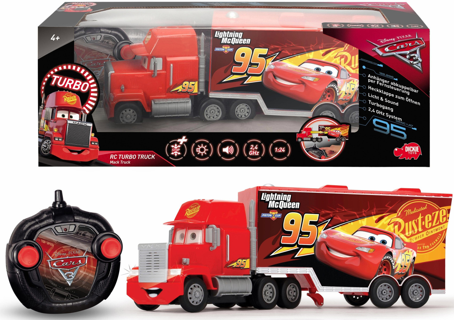 Schuco RC Cars 3 Turbo Mack Truck (89025)