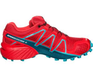 Salomon Speedcross 4 GTX Damen Trailrunning-Schuhe, Rot (Barbados Cherry/Poppy Red/Deep Lagoon), 40 2/3 EU