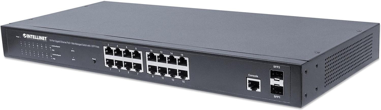 Image of Intellinet 16-Port Gigabit PoE+ Switch (561341)