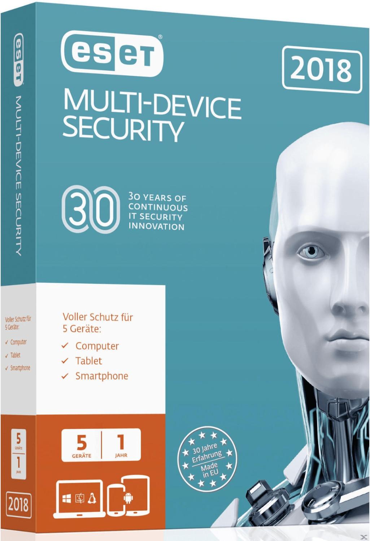 ESET Multi-Device Security 2018 (5 Geräte) (1 J...