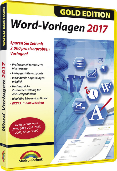 Markt+Technik Word-Vorlagen 2017 - Gold Edition