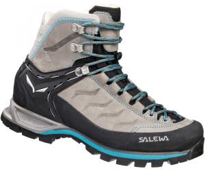 Salewa Mountain Trainer Mid Leather Grau, Damen Hiking- & Approach-Schuh, Größe EU 37 - Farbe Pewter-Ocean %SALE 35% Damen Hiking- & Approach-Schuh, Pewter - Ocean, Größe 37 - Grau