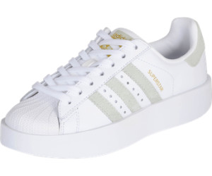 Adidas Superstar Bold Platform W footwear white/linen green/gold metallic