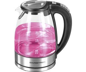 GOURMETMAXX 1,7 L Glas Wasserkocher LED mit Temperaturwahl