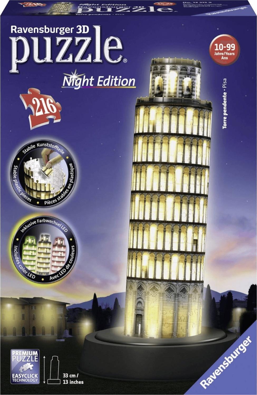 Ravensburger Schiefer Turm von Pisa bei Nacht