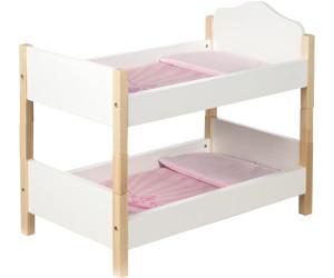 Puppenetagenbett Weiß : Roba scarlett puppenetagenbett weiß rosa ab