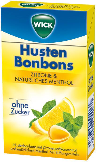 Wick Zitrone & natürliches Menthol ohne Zucker (46g)