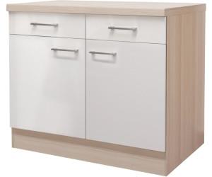 Flex-Well Küchen-Unterschrank Abaco 100cm Perlmutt ab 179,99 ...
