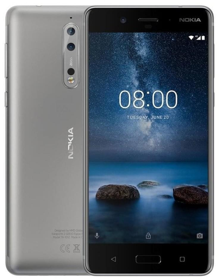 Image of Nokia 8 Dual Sim 64GB Steel