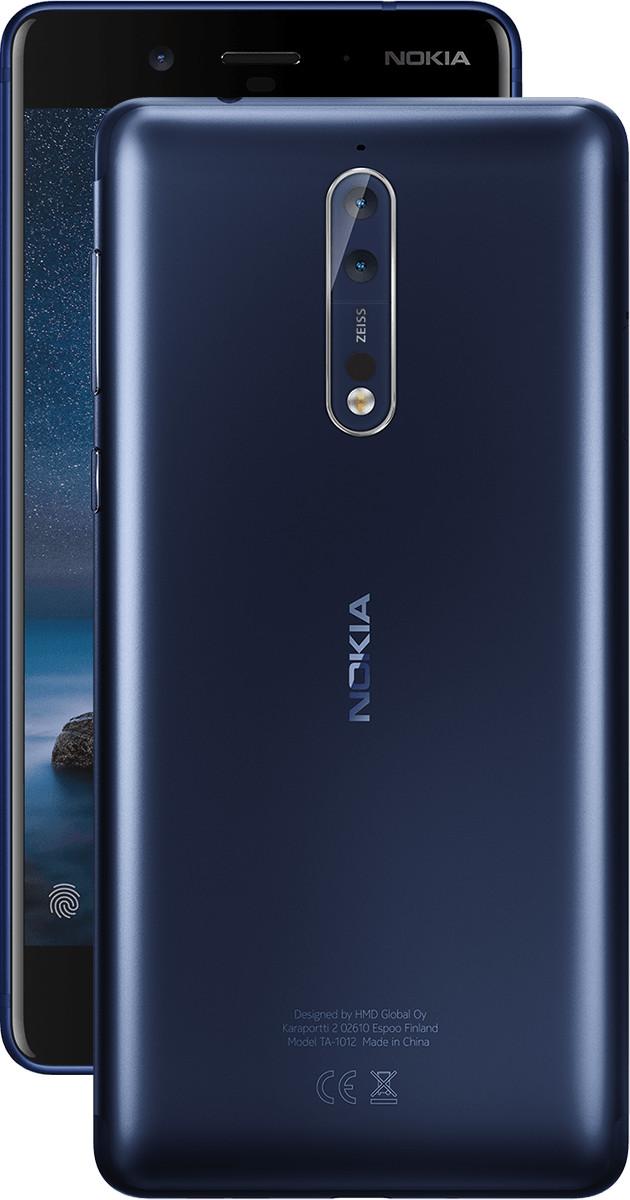 Image of Nokia 8 Dual Sim 64GB Tempered Blue