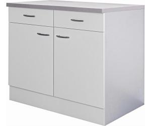 Flex-Well Küchen-Unterschrank Wito 100cm weiß ab 147,99 ...
