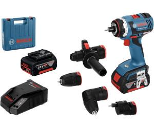 Bosch GSR 18 V EC FC2 (2 x 4,0 Ah + 4 Aufsätze + Ladegerät