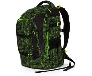 satch pack Schulrucksack Schulranzen 48 cm green bermuda grüne dreiecklinien